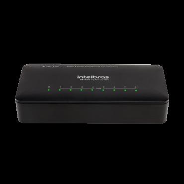 Switch 8 Portas 10/100Mbps c/ Proteção Anti-Surto Compatível c/ POE SF 800 VLAN Ultra - Intelbras