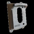 Protetor Para Interfone Intelbras Iv 7000 Me Preto Prata Craqueado - Bulher