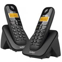 Telefone Sem Fio Base + 1 Ramal TS-3112 Preto - Intelbras