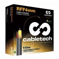 Cabo Coaxial Rff-4mm + Bipolar Externo 85% Branco Caixa C/ 100 Metros - Cabletech