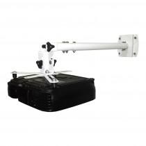 Suporte SBRP 756B (Branco) Teto/Parede Para Projetor Com Extensor e Engate Rápido - Brasforma