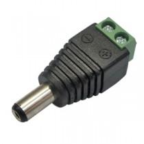 Conector P4 Macho C/ Borne - Pacote C/ 10 Unidades