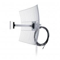 Antena de Internet Grade 2.4GHz 20dBi com 10m de Cabo MM-2420F10 - Aquário