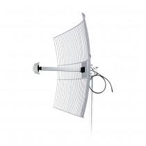 Antena de Internet Grade 2.4GHz 25dBi com 1m de Cabo MM-2425F1 - Aquário