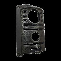 Protetor Para Interfone Intelbras Iv 7000 Ex Preto Prata Craqueado - Bulher