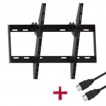 """Suporte SBRP 613 Barra Dupla Inclinável Slim Para TV 37"""" a 70"""" Com Cabo HDMI 1,8m - Brasforma"""