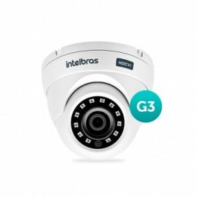 Câmera Multi HD Dome VHD 3120 D G3 2,8mm 20m 720P HD - Intelbras